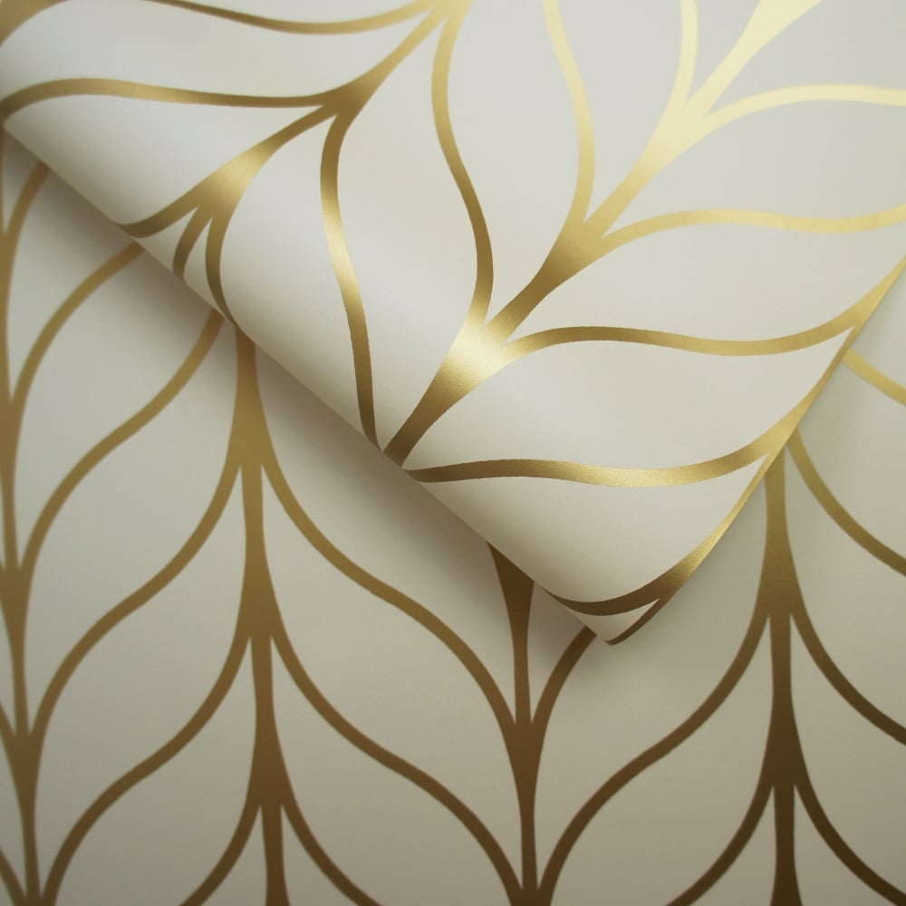 Holden Shimmering Geo Striped Wallpaper Art Deco Trellis Metallic 50060 Exclusive