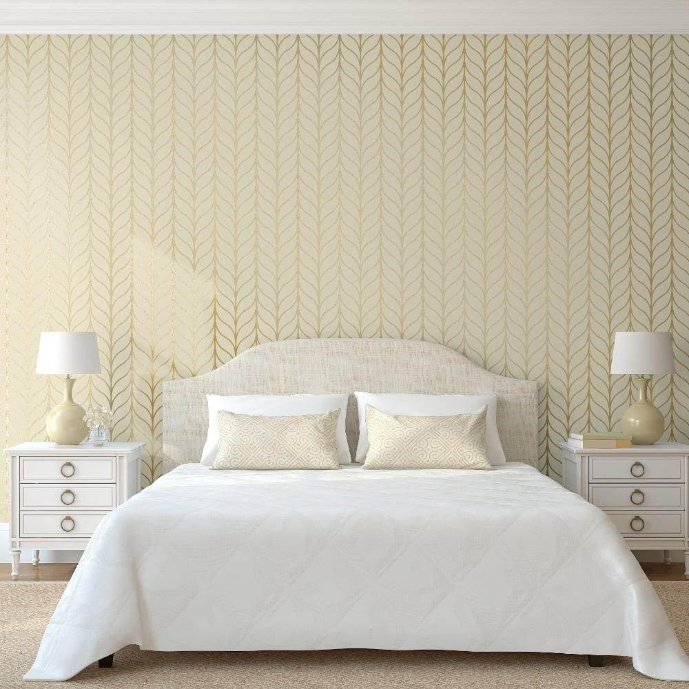 Holden Shimmering Geo Striped Wallpaper Art Deco Trellis Metallic 50060  Exclusive