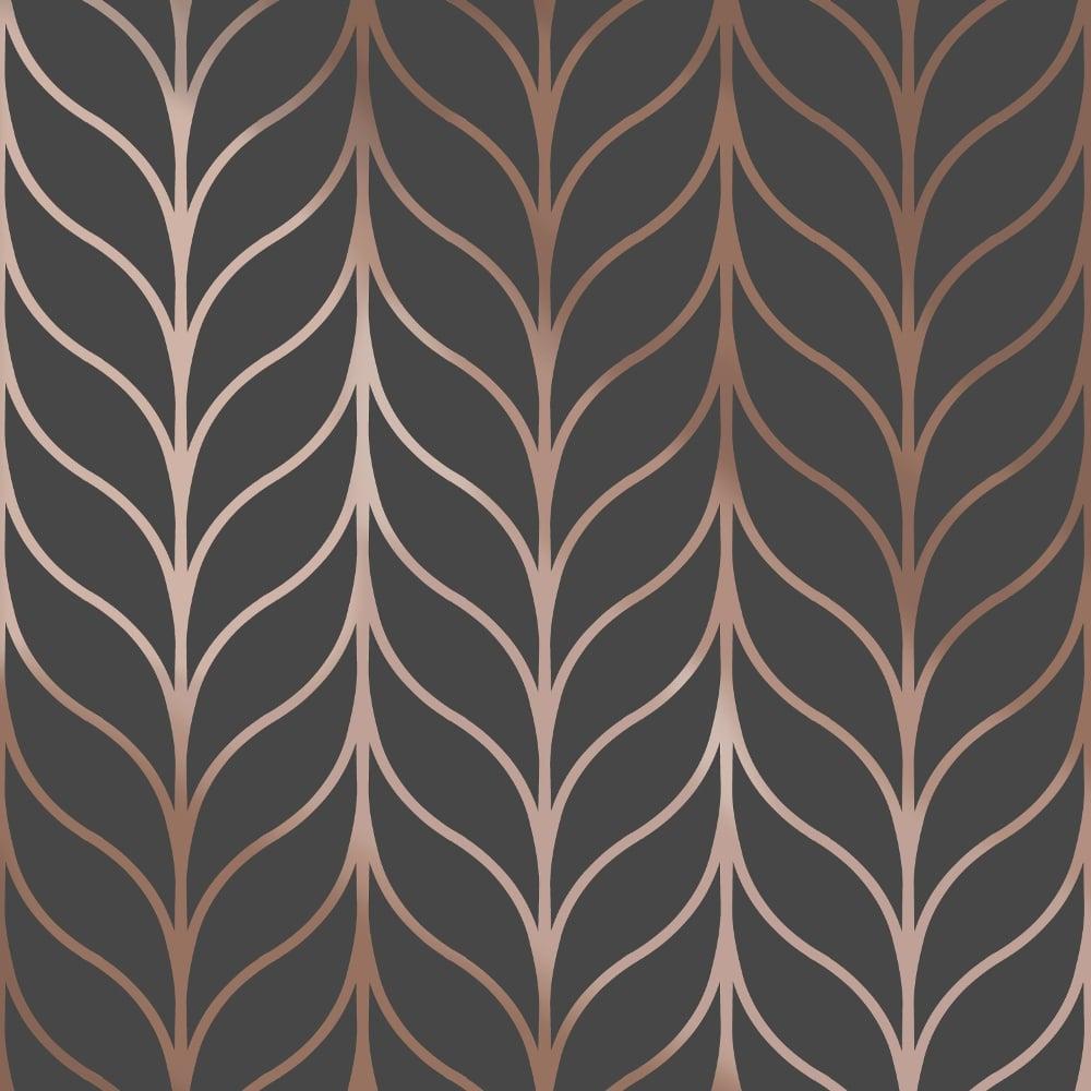 Bien connu Holden Shimmering Striped Wallpaper Art Deco Trellis Metallic 50061 VD62