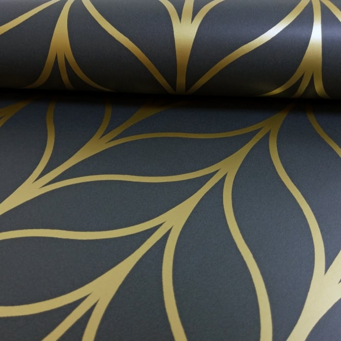 Holden Decor Holden Shimmering Geo Striped Wallpaper Art Deco Trellis Metallic 50062 Exclusive