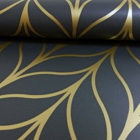 Holden Shimmering Geo Striped Wallpaper Art Deco Trellis Metallic 50062 Exclusive