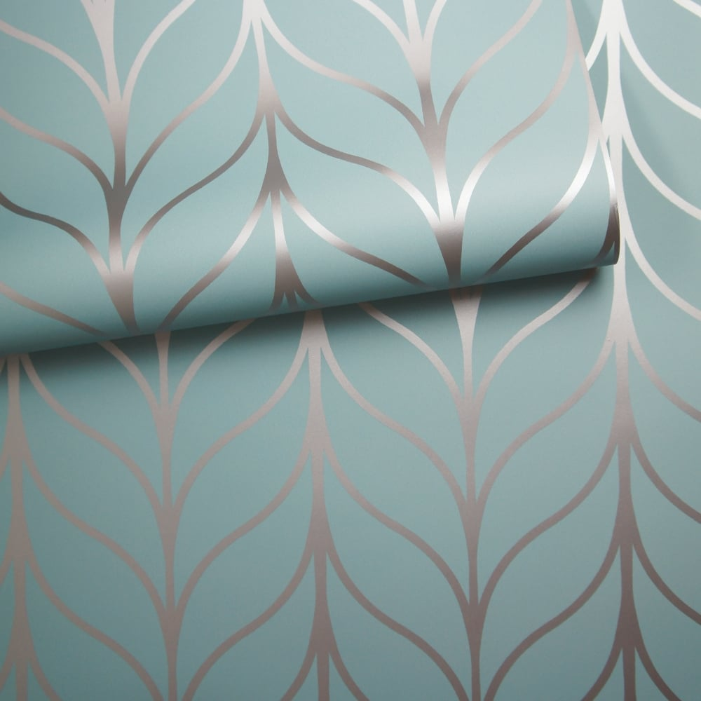 holden shimmering geo striped wallpaper art deco trellis