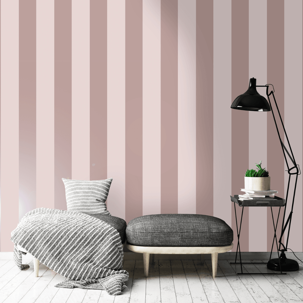 Holden Shimmering Stripe Pattern Wallpaper Metallic