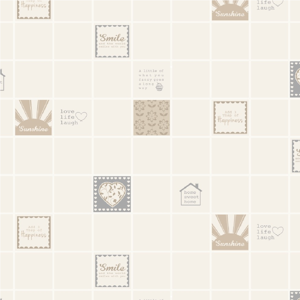 Wallpaper Tiles For Kitchen: Holden Smile Tile Wallpaper 89201 - Neutral
