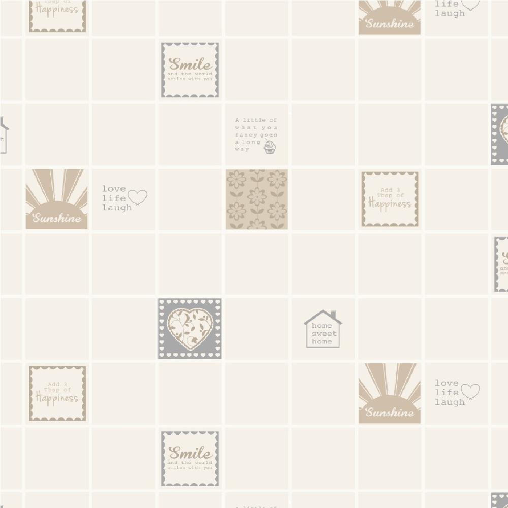 Holden Smile Tile Kitchen Bathroom Tiling Effect Wallpaper