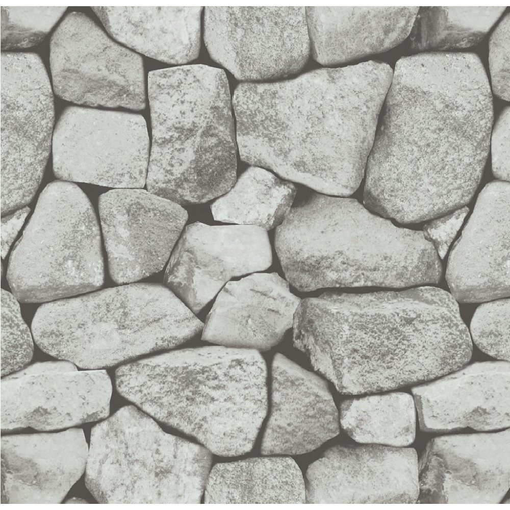 Holden stones grey dry stone wall rock brick effect for Stone wall art