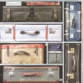 Holden Vintage Suitcase Pattern Wallpaper Retro Luggage Realistic 11960