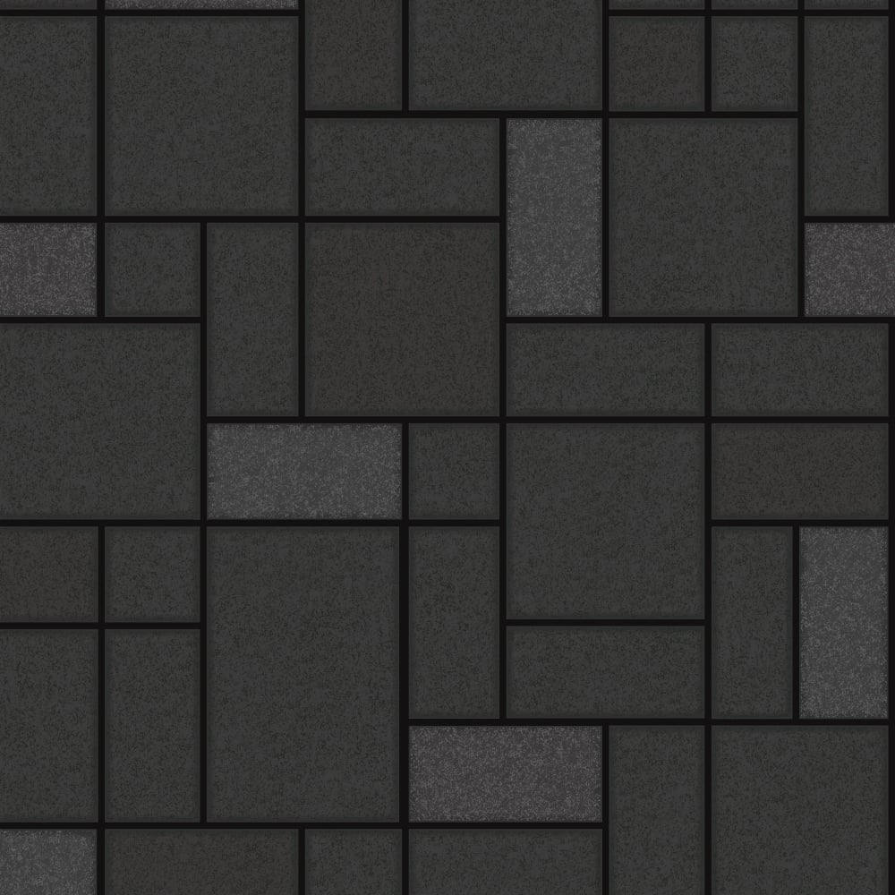 Black tile wallpaper gray honeycomb pattern wallpaper for Black 3d tiles wallpaper
