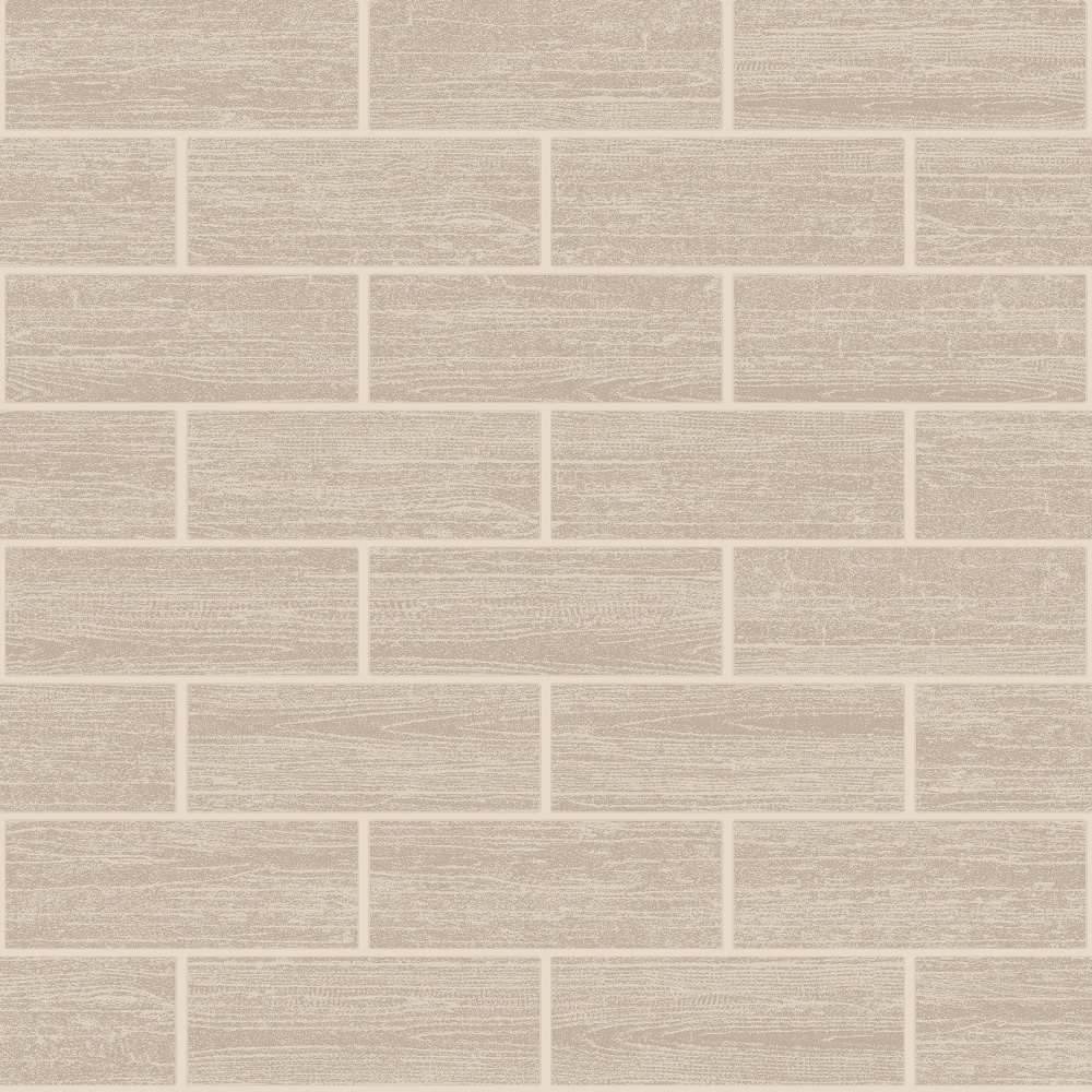 Holden wood tile effect kitchen bathroom tiling wallpaper beige 89219 - Wood effect bathroom wallpaper ...