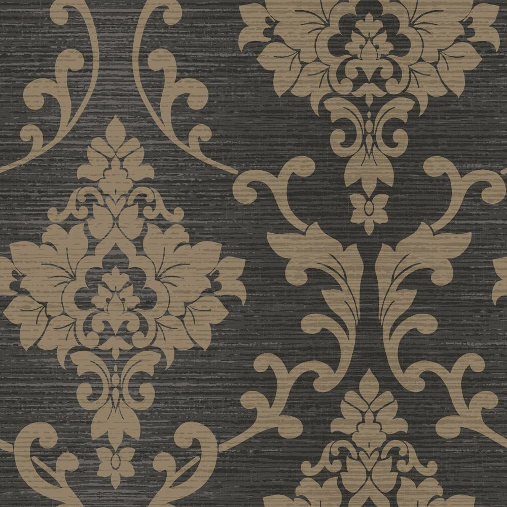 Holden Kaluna Damask Pattern Wallpaper Metallic Floral Textured 65503