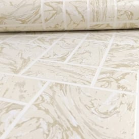 Holden Decor Marble Tile Pattern Faux Effect Kitchen Bathroom Vinyl Wallpaper 89250