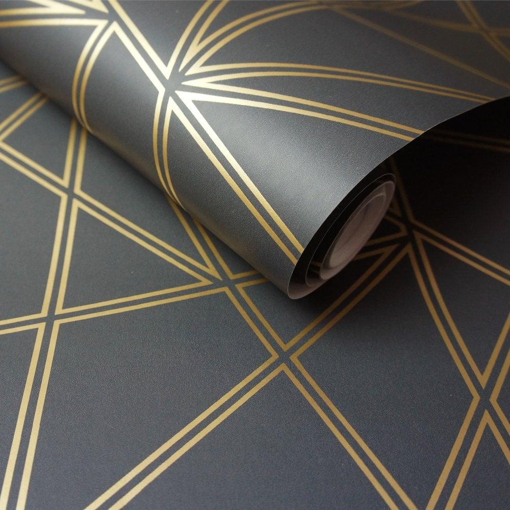 HOLDEN DECOR Paladium Geometric Design Luxury Wallpaper Dusky rose 90115