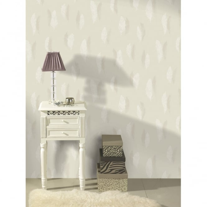 Holden Decor Quill Feather Pattern Nature Bird Silhouette Leaf Wallpaper 11500