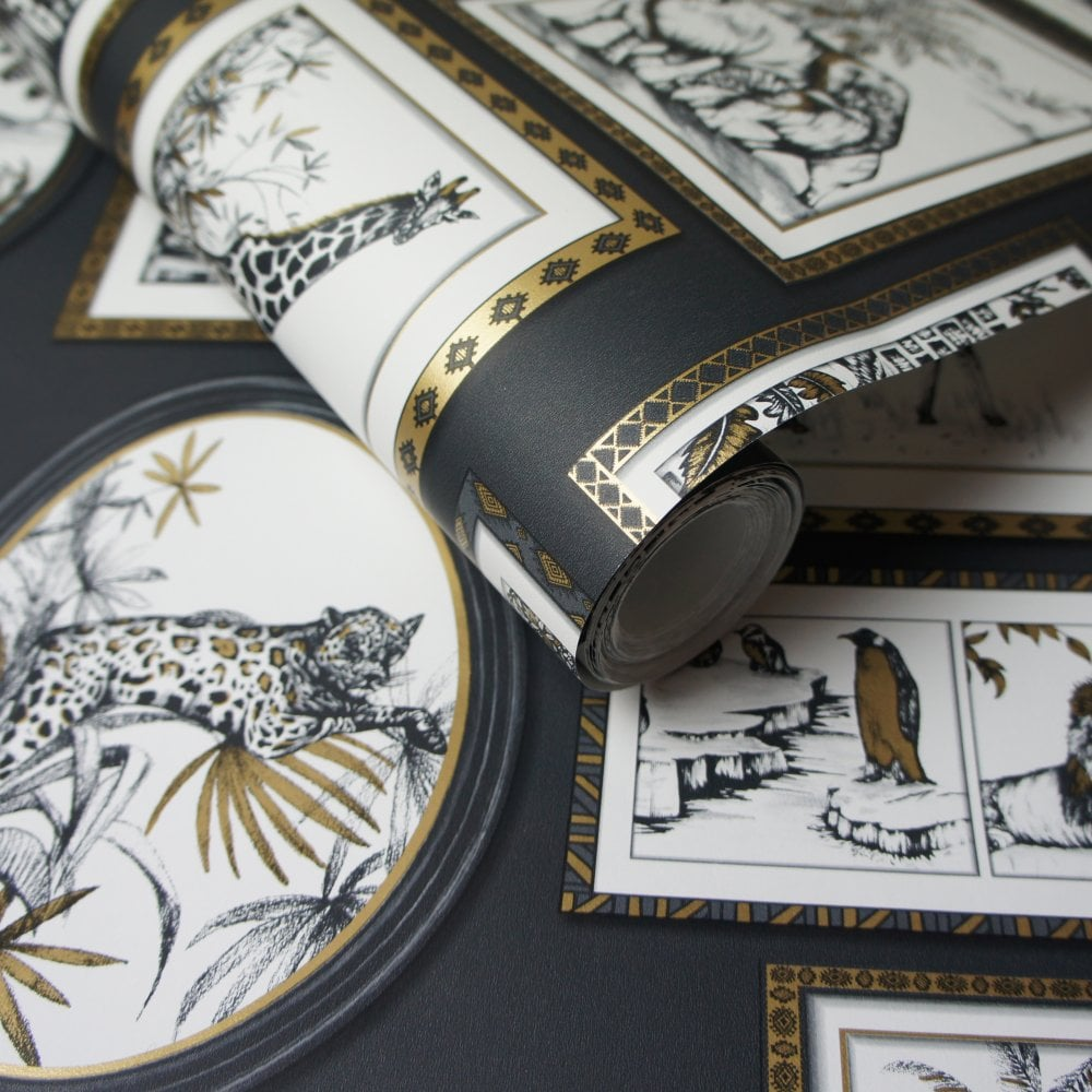 Holden Decor Safari Frames Sketched Animals Birds Giraffe Lion ...