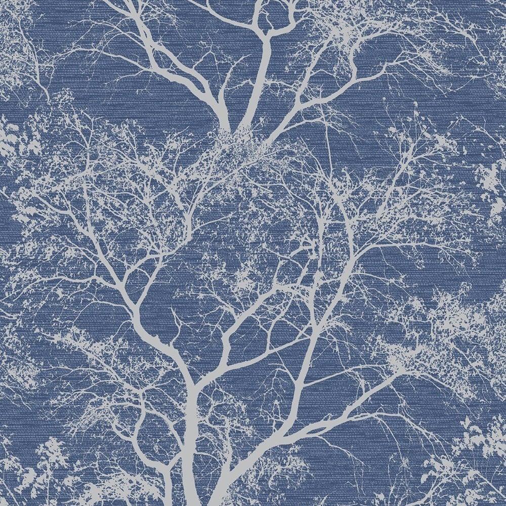 Holden Trees Pattern Wallpaper Forest Woodland Glitter Motif 65402
