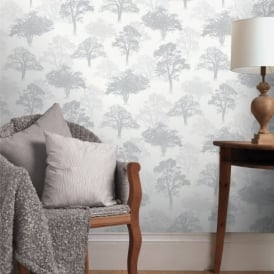 Holden Decor Woodland Forest Pattern Tree Nature Glitter Motif Wallpaper 11471