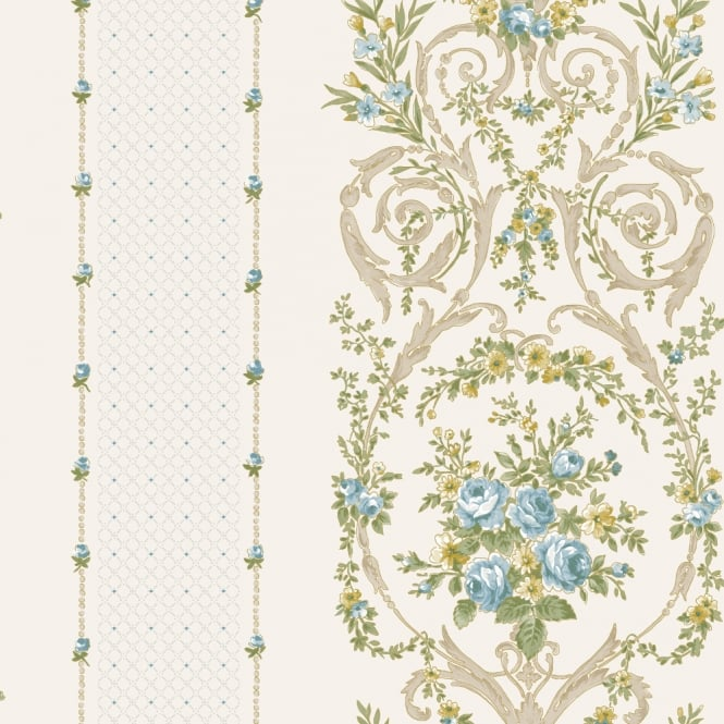 Holden Decor Holden Eden Hall Ebony Floral Leaf Pattern Wallpaper Metallic Watercolour 98721