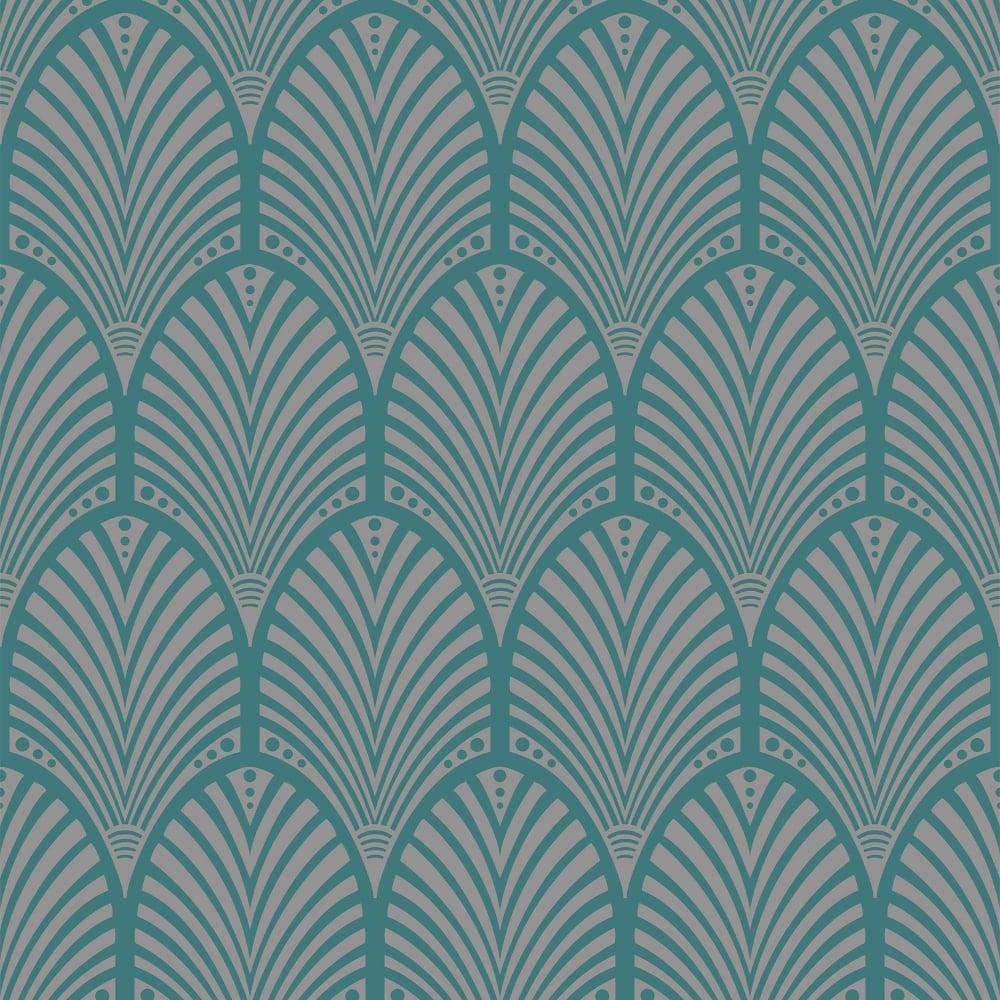 Bien connu Holden Gatsby Arch Pattern Wallpaper Art Deco Vintage Metallic 65253 VD62