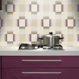 Purple wallpaper plum wallpaper i want wallpaper for Purple kitchen wallpaper