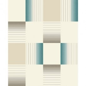 Holden Hikari Square Stripe Pattern Embossed Vinyl Tile Kitchen Bathroom Wallpaper 89142