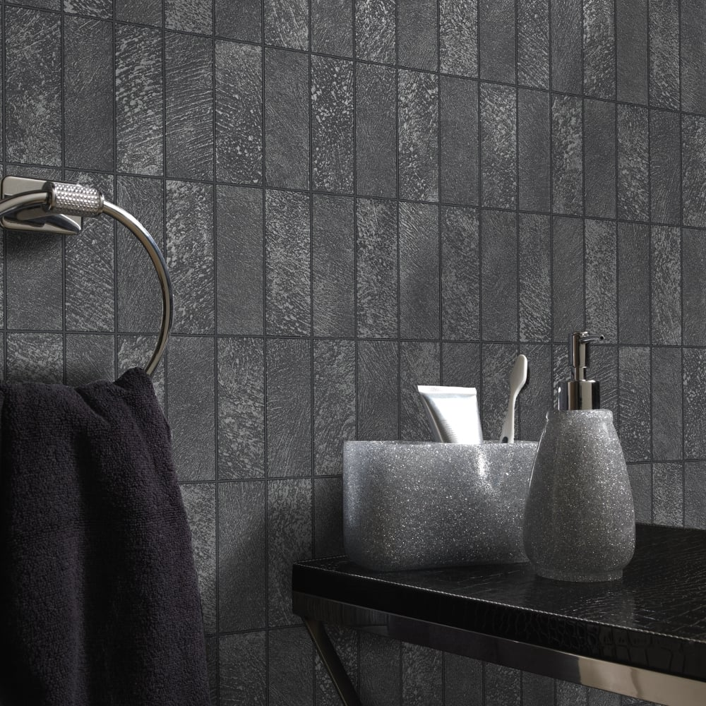 bathroom wallpaper tile effect holden tile pattern wallpaper faux effect kitchen 17175