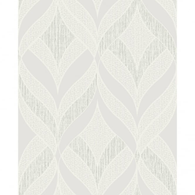 Holden Decor Holden K2 Aragon Stripe Pattern Traditional Leaf Glitter Vinyl Wallpaper 75740