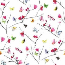 Holden Mazarine Floral Butterfly Wallpaper 97771