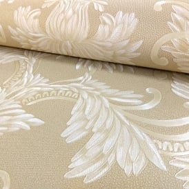 Holden Opus Clara Damask Pattern Wallpaper Leaf Motif Metallic Italian Heavyweight 35282