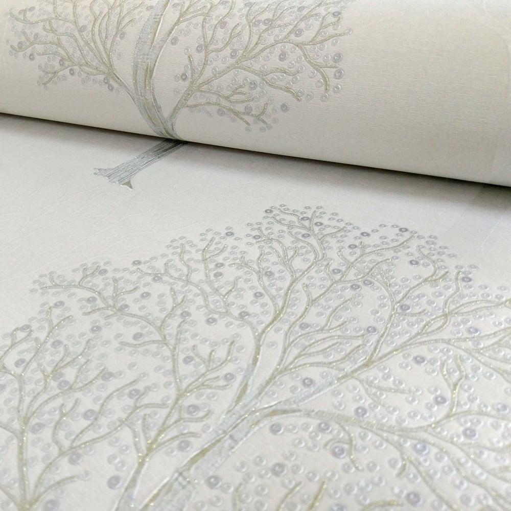 Holden Ornella Tree Pattern Wallpaper Italian Vinyl Glitter Forest Motif 35253