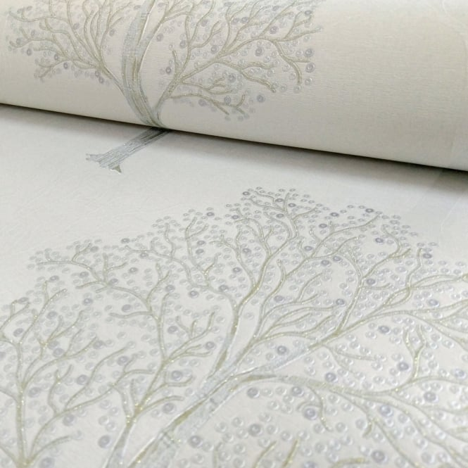 Holden Decor Holden Ornella Tree Pattern Wallpaper Italian Vinyl Glitter Forest Motif 35253