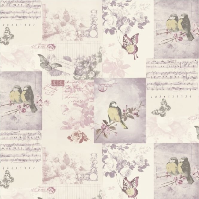 Holden Decor Holden Songbirds Motif Wallpaper 11262