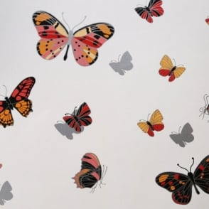 IWW Butterfly Butterflies Motif Patterned Metallic Silver Wallpaper J725A Produced By Arthouse