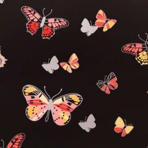 IWW Butterfly Butterflies Motif Patterned Metallic Silver Wallpaper J725C Produced By Arthouse
