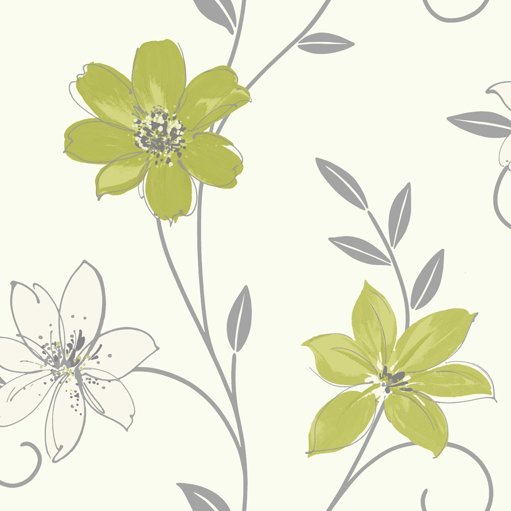 Download green and white floral wallpaper gallery for White wallpaper uk
