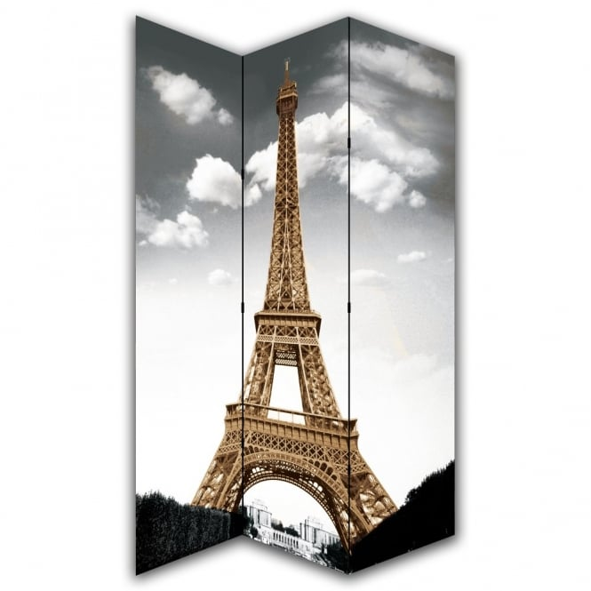 I Want Wallpaper Paris Eiffel Tower Canvas Dressing Privacy Screen Folding 3 Panel Room Divider HW6161