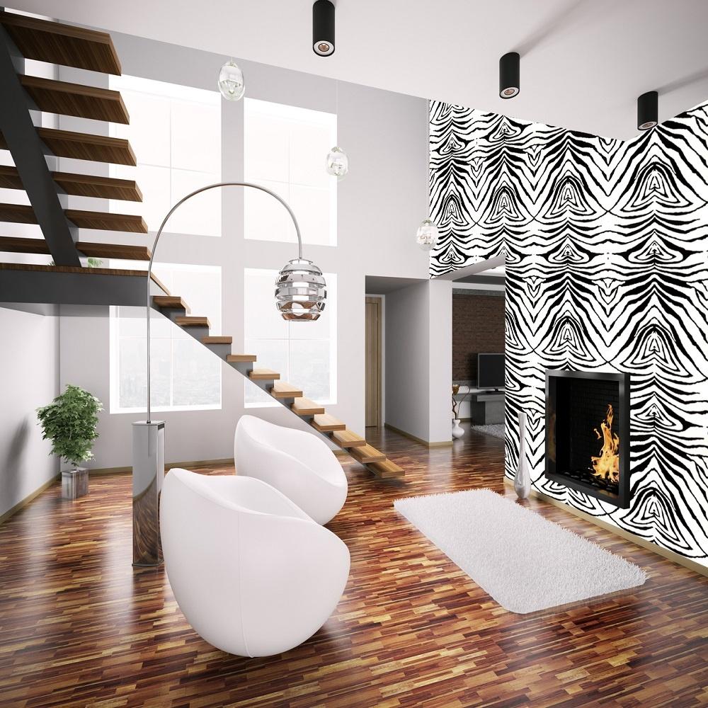 New Exclusive Zulu Zebra Print Animal Skin Faux Effect Wallpaper