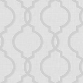 Retro Geometric Trellis Pattern Wallpaper Baroque Pink Gold Metallic Glitter