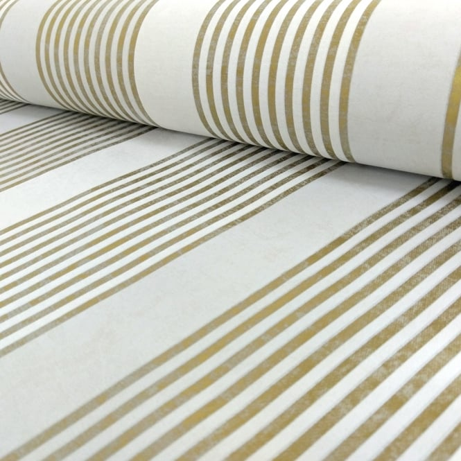 Marburg Wallcoverings Marburg Rae Stripe Pattern Wallpaper Marble Motif Modern Embossed Metallic 53105