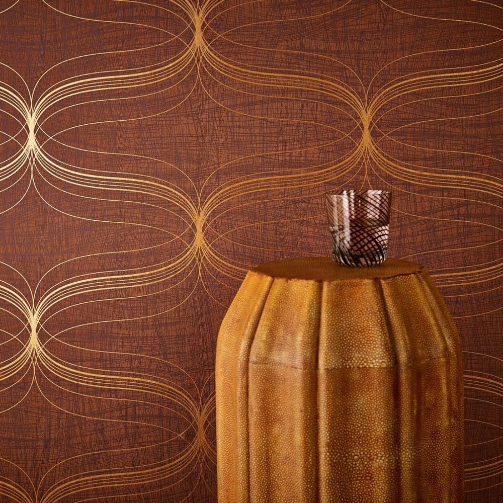 Marburg Lyra Geometric Stripe Pattern Wallpaper Modern Metallic Textured 53149