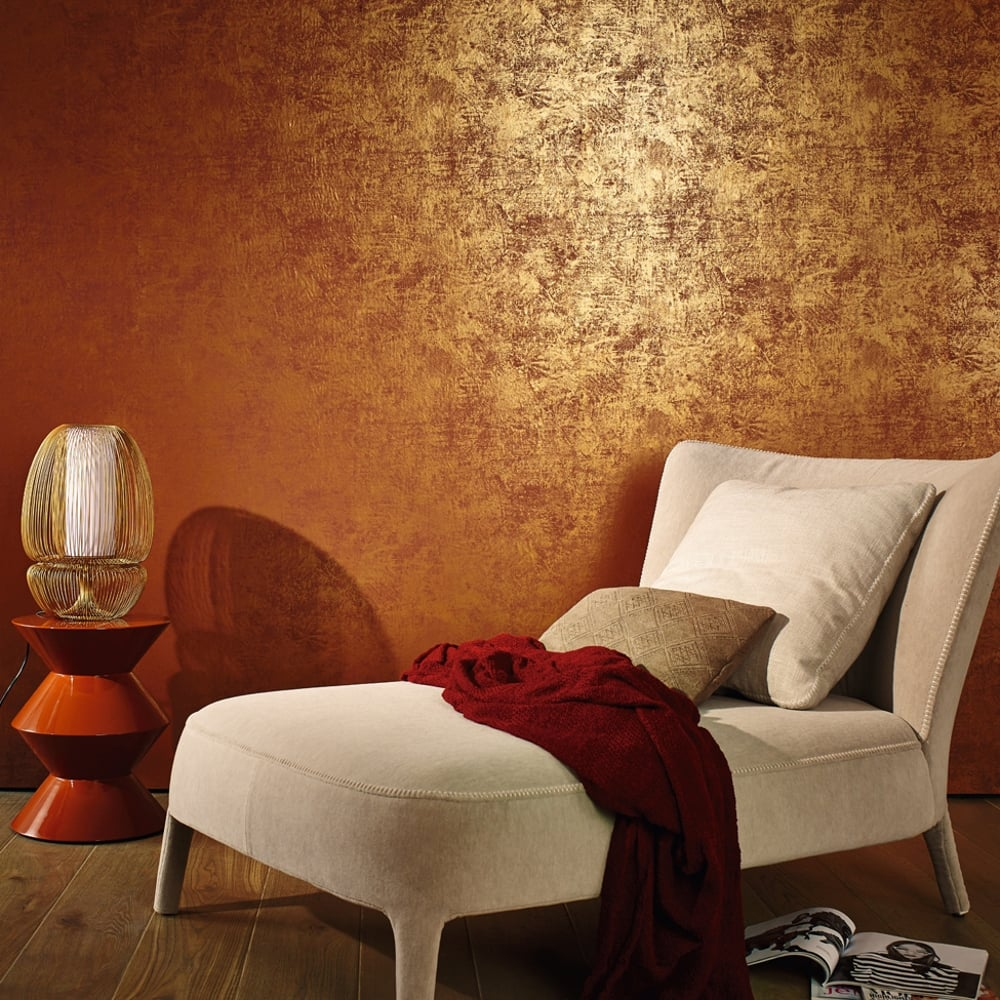 16 Rose Gold And Copper Details For Stylish Interior Decor: Marburg Lyra Texture Marble Pattern Wallpaper Modern
