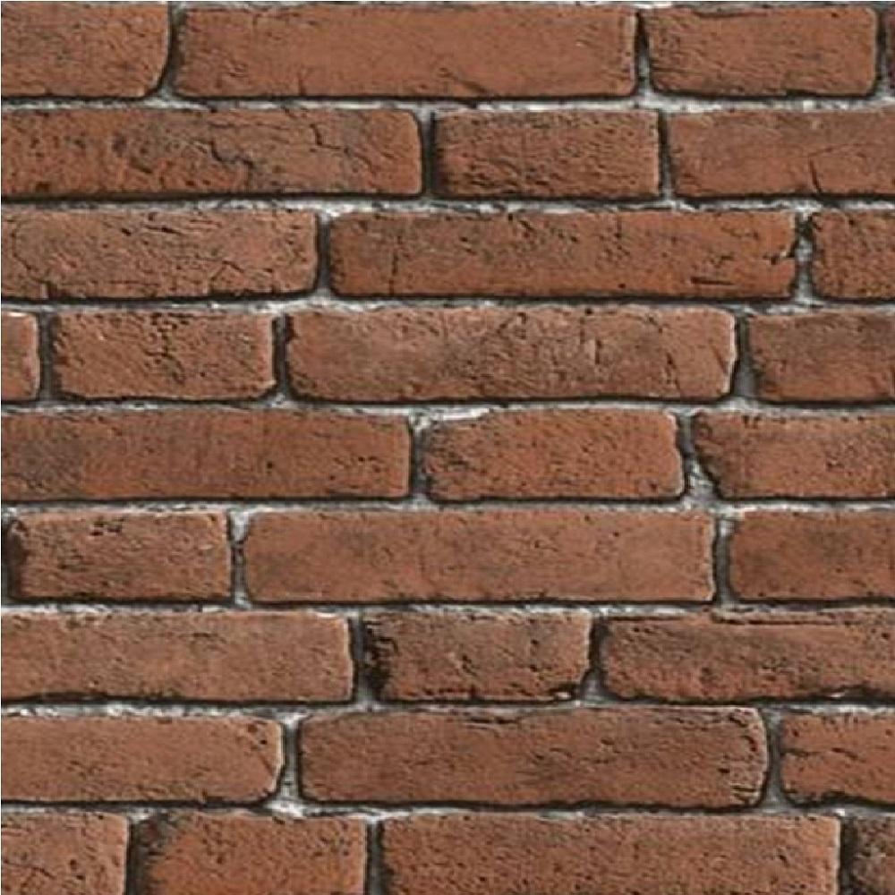 Muriva Bluff Embossed Brick Effect Wallpaper J30108 Red I Want