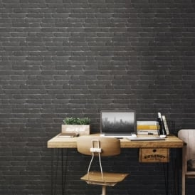 Muriva Bluff Embossed Brick Effect Wallpaper J30109