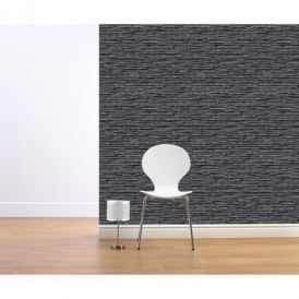 Muriva Bluff Slate Pattern Stone Brick Vinyl Embossed Wallpaper J27609