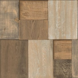 Muriva Bluff Wood Blocks Wallpaper J27007