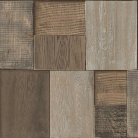 Muriva Bluff Wood Blocks Wallpaper J27008