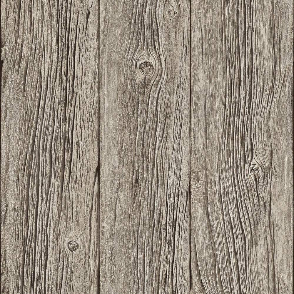 Muriva Bluff Wood Panel Wallpaper J02408 - Muriva Bluff Wood Panel Faux Effect Wallpaper Grey J02408