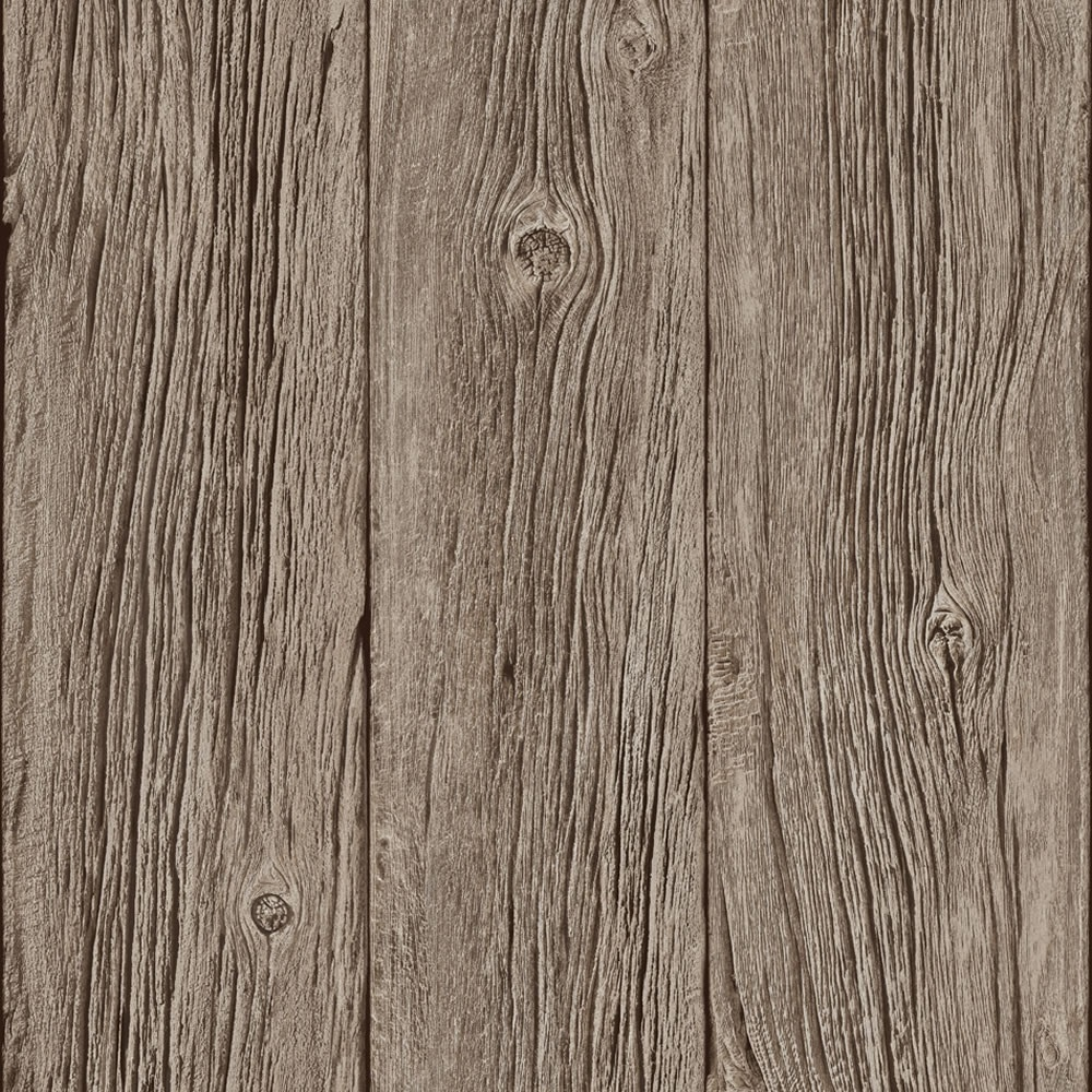 Muriva Bluff Wood Panel Faux Effect Wallpaper Brown J02417