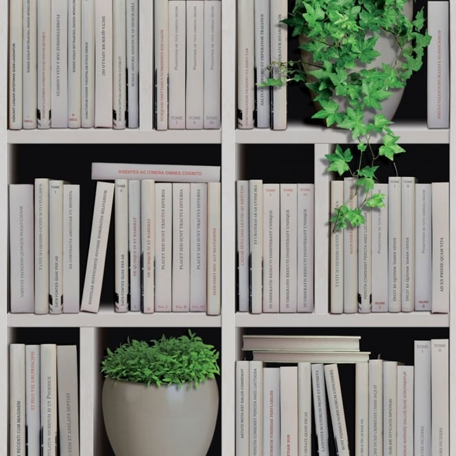 Muriva Bookshelves Faux Effect Wallpaper J40607