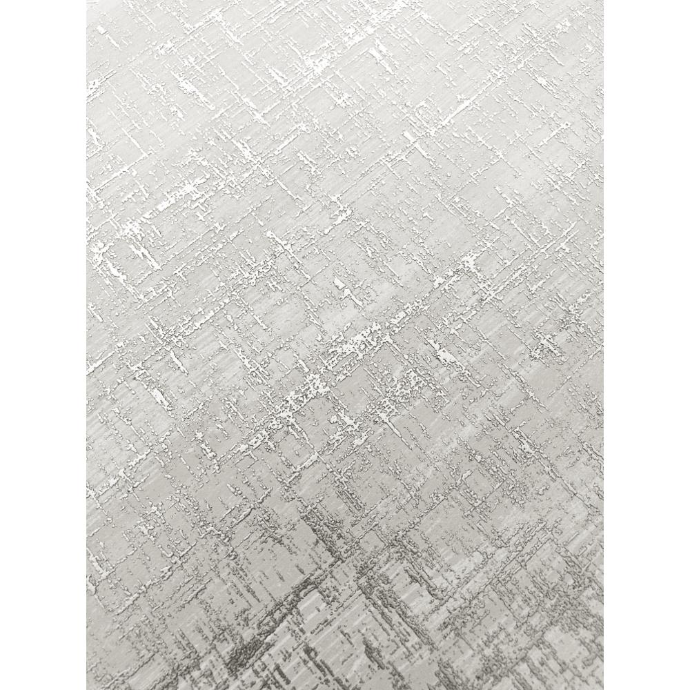 Muriva Charice Cross Hatch Plain Metallic Wallpaper Non Woven Roll