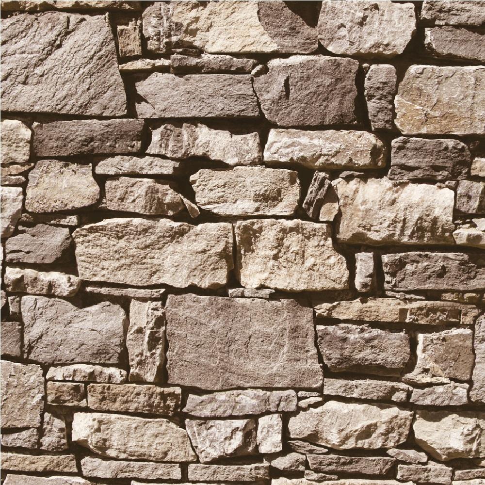 Muriva Dry Stone Wall Wallpaper J49407 - Sand